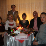 Mr and Mrs Nakonechnyj, Androshchuk and Bohaychuk, Head of Health Department of Ternopol RSA