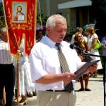 Іван Ткачук, мер міста Ланівці зачитує Декларацію місту Ланівці